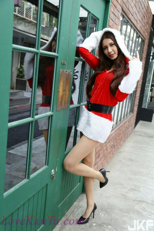 Model写真系列台模201712.10Candice蔡译心圣诞外拍1